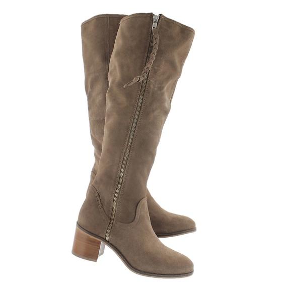 151c48c0e6a1 Steve Madden Lasso taupe knee high dress boot 7.5
